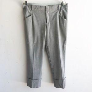 GAP STRETCH KHAKI/TAN STRAIGHT LEG CAPRI PANTS 12